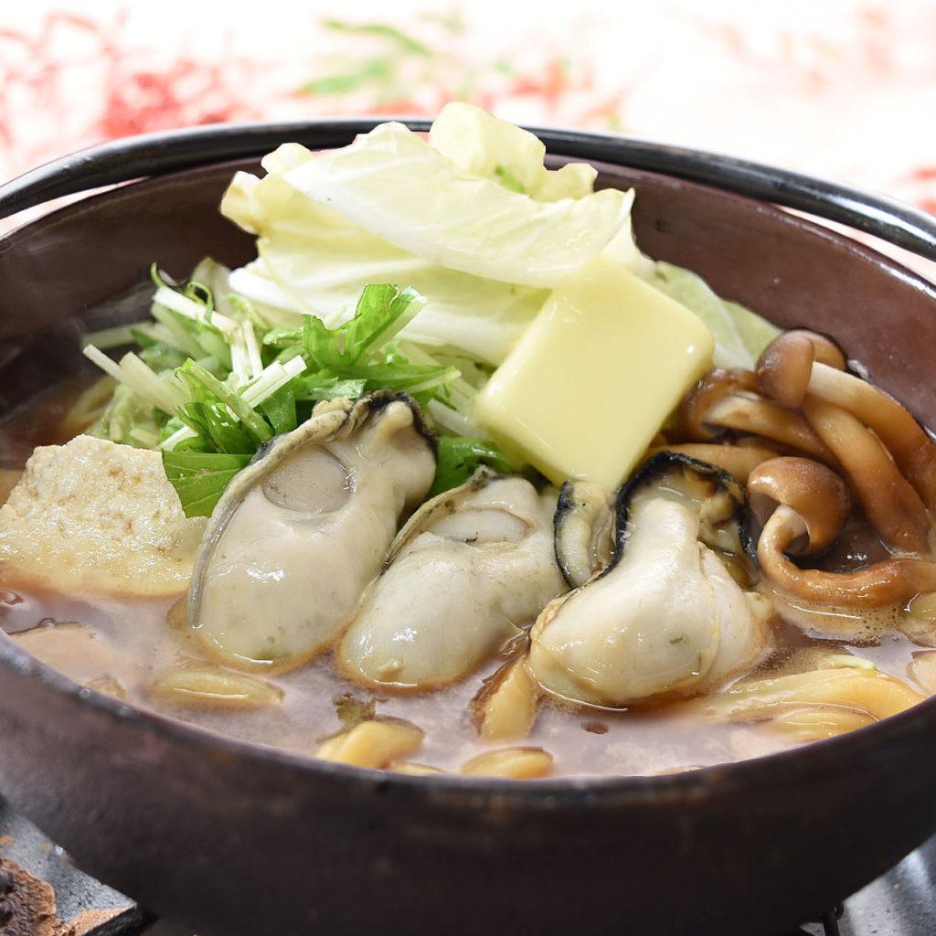 牡蠣の鍋焼うどん