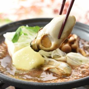 牡蠣の味噌バター陶板