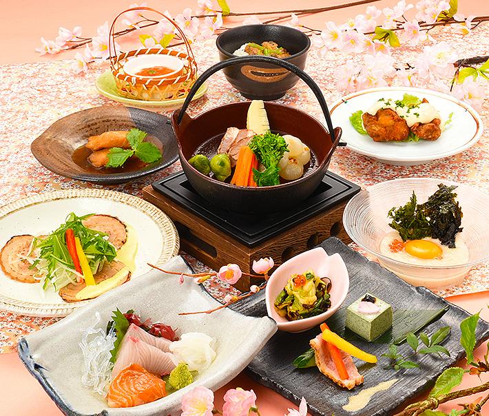 【田舎茶屋わたや】春のコース料理4000円